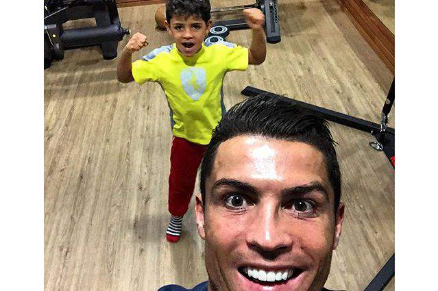 Cristiano Ronaldo e o o filho
