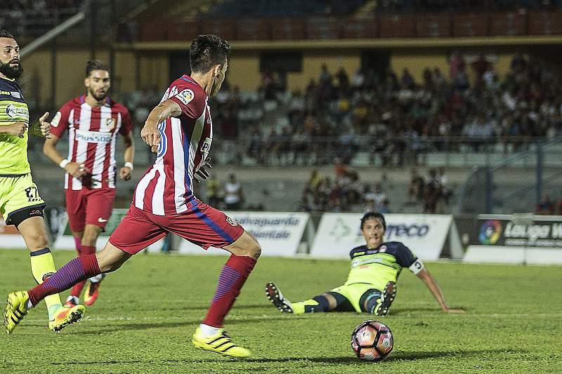 Nico Gaitán em ação pelo Atlético Madrid