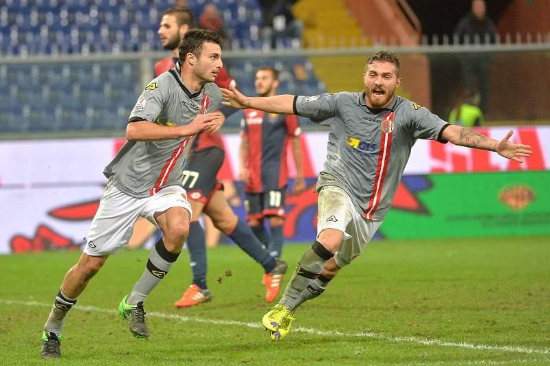 Riccardo Boccalon celebra um golo pelo Alessandria