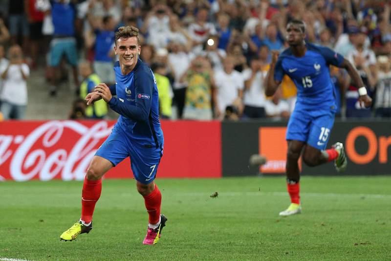 Euro2016: Griezmann festeja golo no França - Alemanha