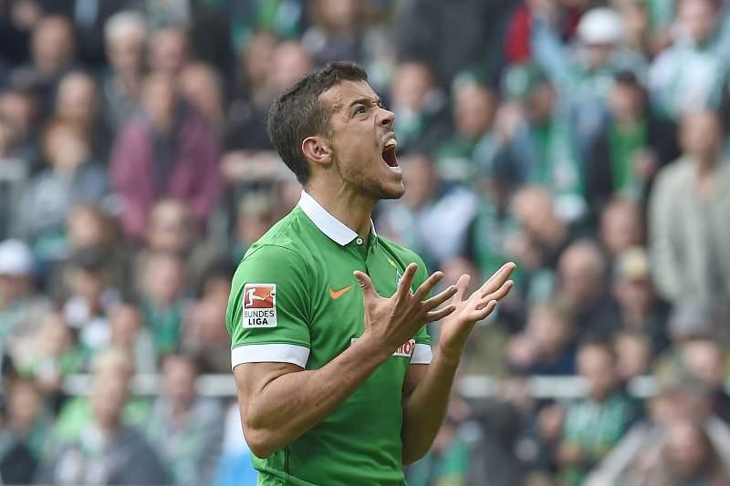 Franco Di Santo celebra um golo pelo Werder Bremen