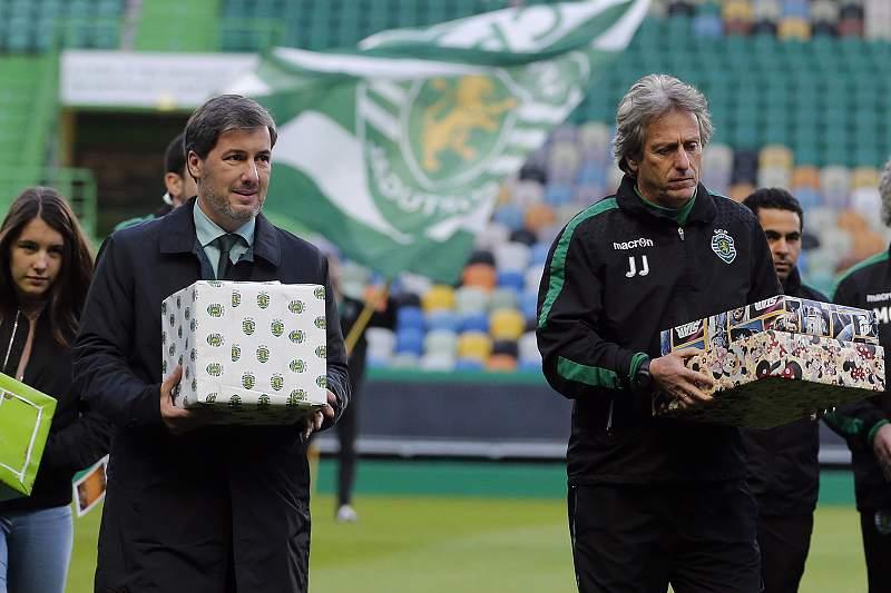 Jorge Jesus e Bruno de Carvalho
