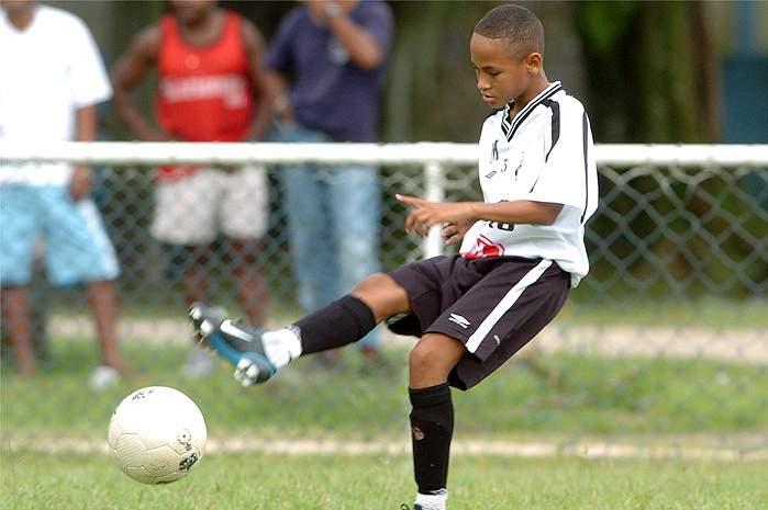 Neymar, com 15 anos