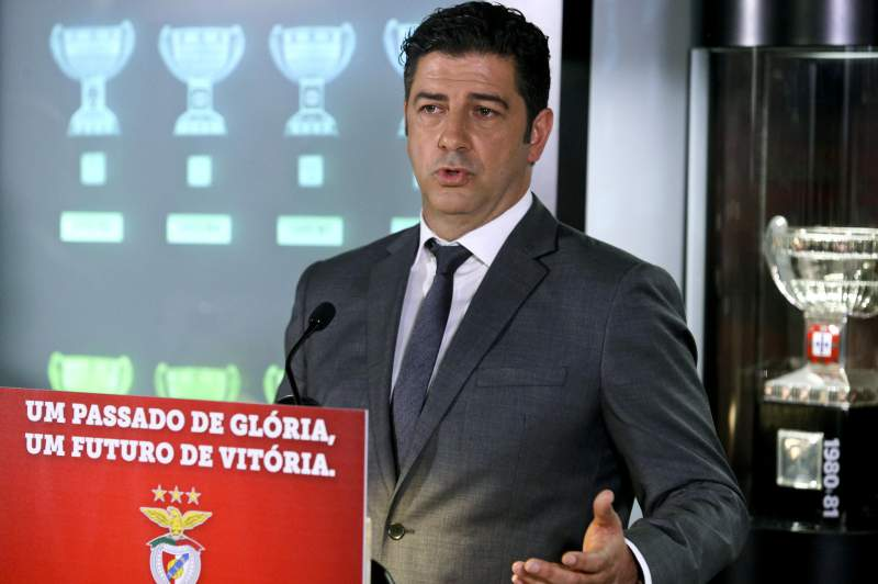 Rui Vitória presented today as the new head coach of Benfica