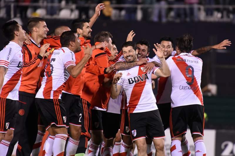 River Plate celebra apuramento para a final da Taça Libertadores