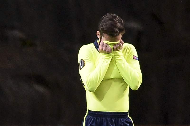 Rafa Silva lamenta a derrota em Braga diante do Shakhtar