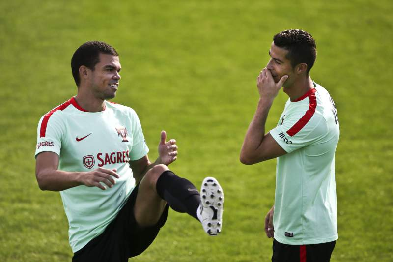 Pepe e Cristiano Ronaldo