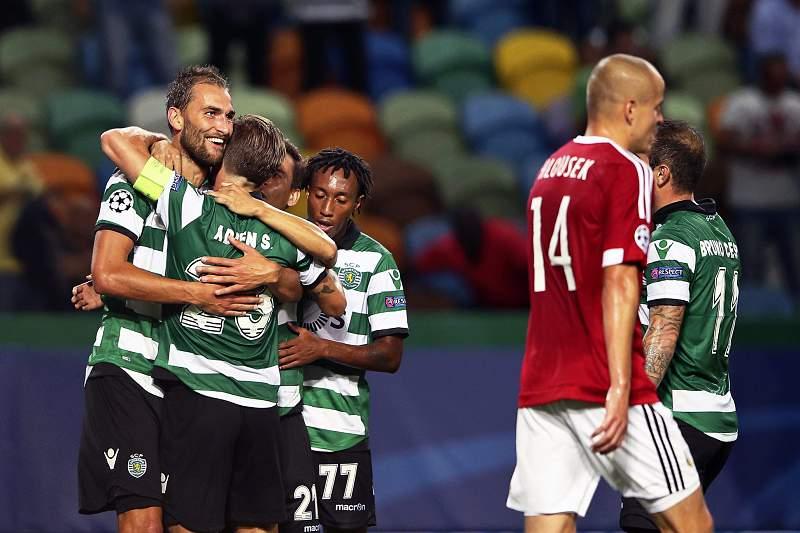 Sporting - Legia. Sporting festeja golo