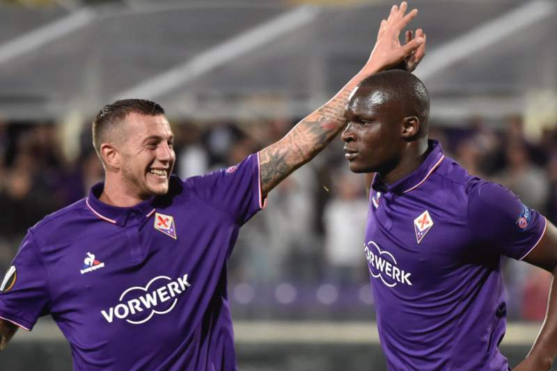 Khouma Babacar celebra um golo frente ao Qarabag