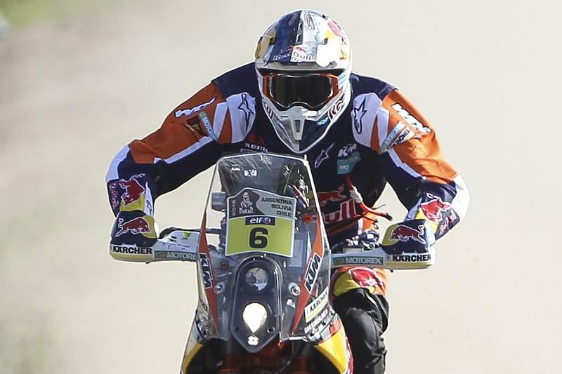 Sam Sunderland em ação no Raly Dakar