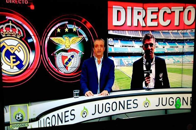 O programa 'Jugones' da televisão espanhola La Sexta cometeu uma gafe na antevisão do jogo de estreia do Real Madrid ao trocar o emblema do Sporting pelo do Benfica