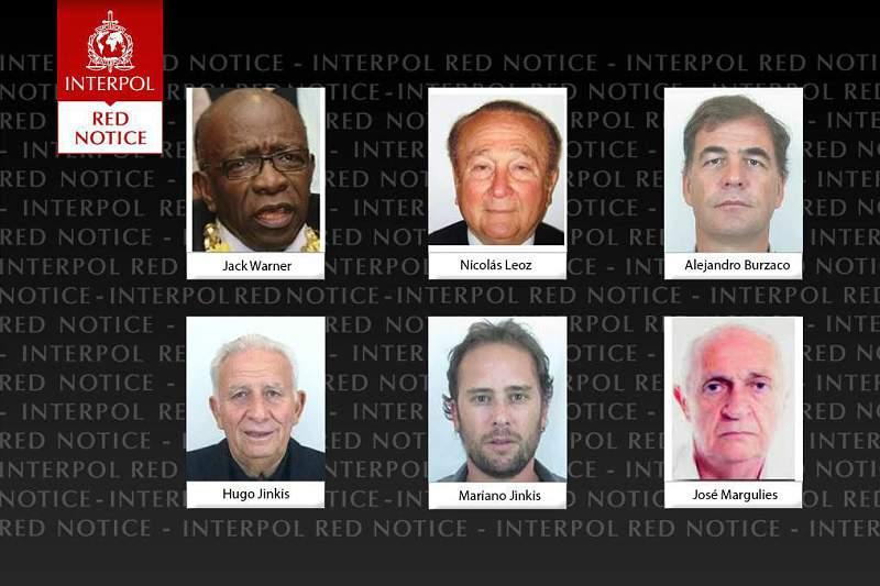 Dois antigos dirigentes da FIFA na lista dos mais procurados da Interpol