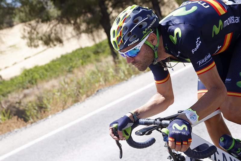 Alejandro Valverde em ação na Volta a Espanha
