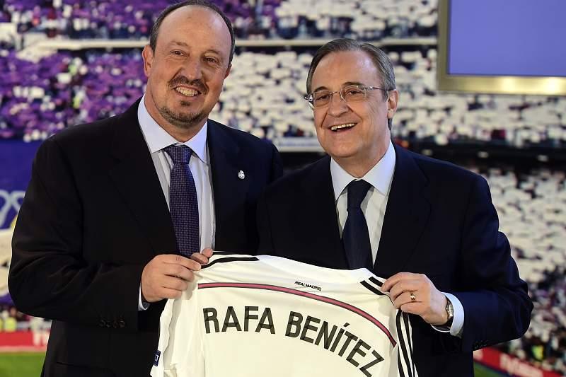 Florentino Pérez e Rafa Benitez
