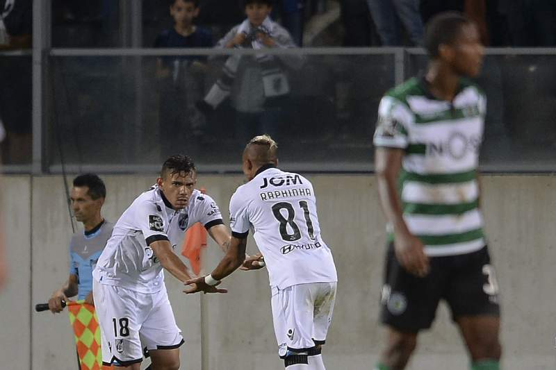 Soares celebra o golo do empate diante do Sporting