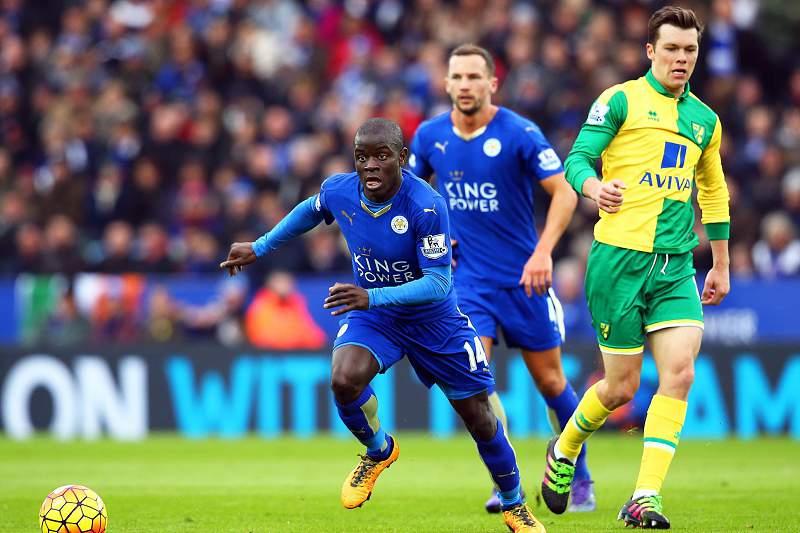 NGolo Kanté em ação frente ao Norwich City