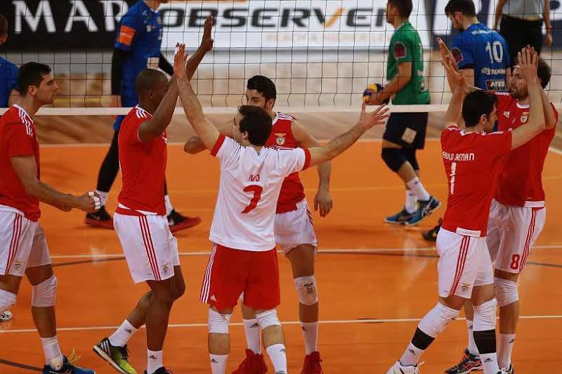 Benfica vence gregos na primeira mão dos 'quartos' da Taça Challenge de voleibol