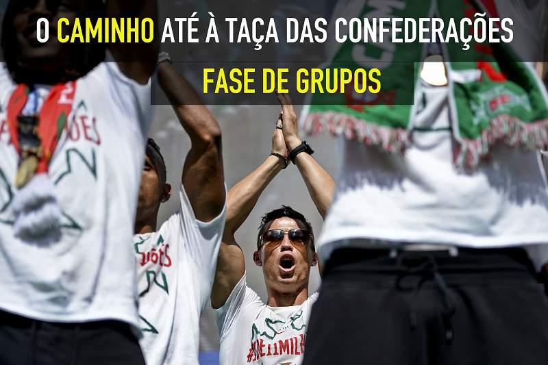 O caminho de Portugal até à Taça das Confederações: Fase de Grupos