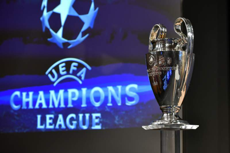 The UEFA Champions League cup is pictured prior to the ceremony for the quarter-final draw of the quarter-final draw for the UEFA Champions League football tournament at the UEFA headquarters in Nyon on December 17, 2017. / AFP PHOTO / Fabrice COFFRINI