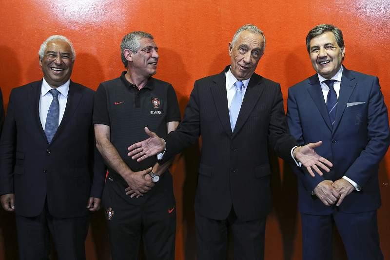 António Costa, Fernando Santos, Marcelo Rebelo de Sousa e Fernando Gomes