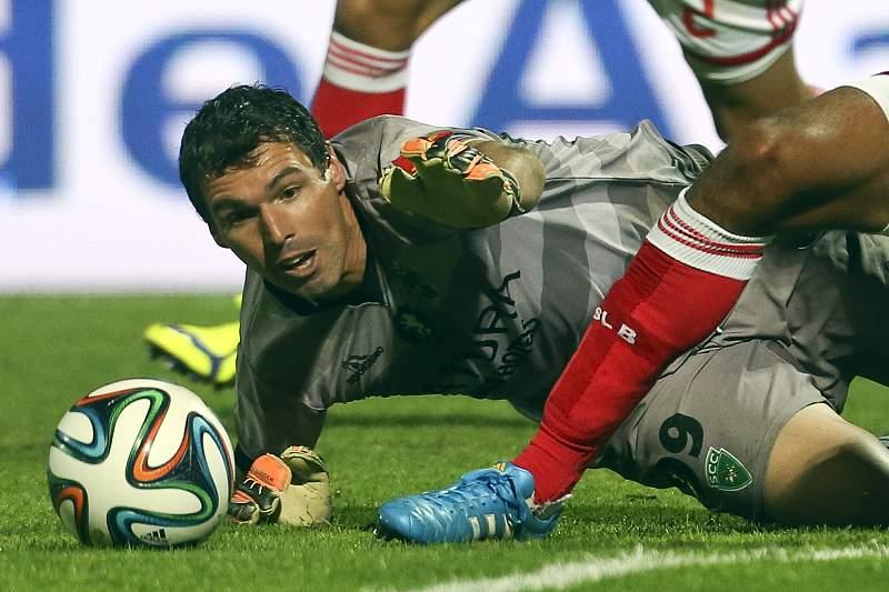 Pedro Taborda em ação contra o Benfica na Taça de Portugal