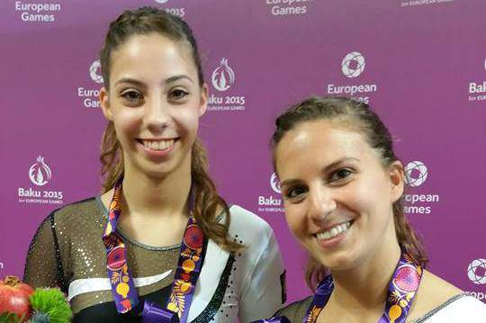 Beatriz Martins e Ana Rente bronze nos trampolins sincronizados