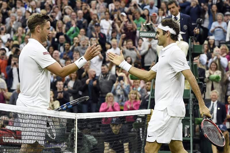 Marcus Willis e Roger Federer