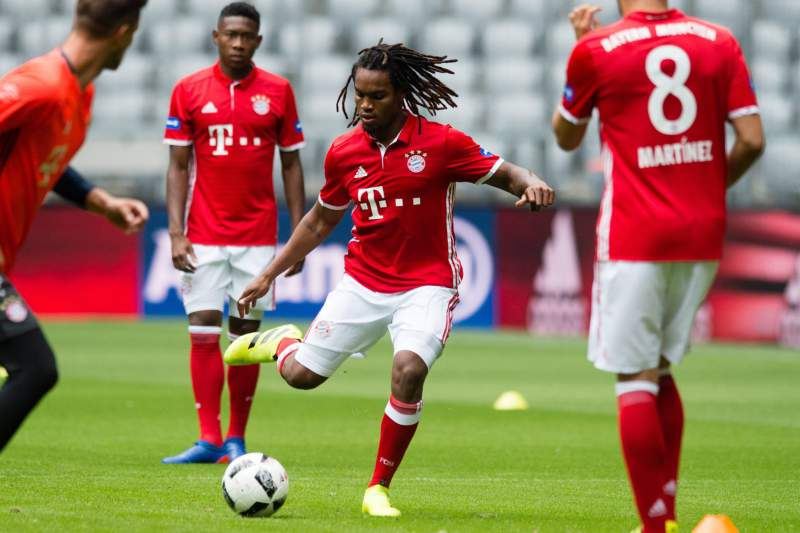 Renato Sanches durante um treino do Bayern Munique