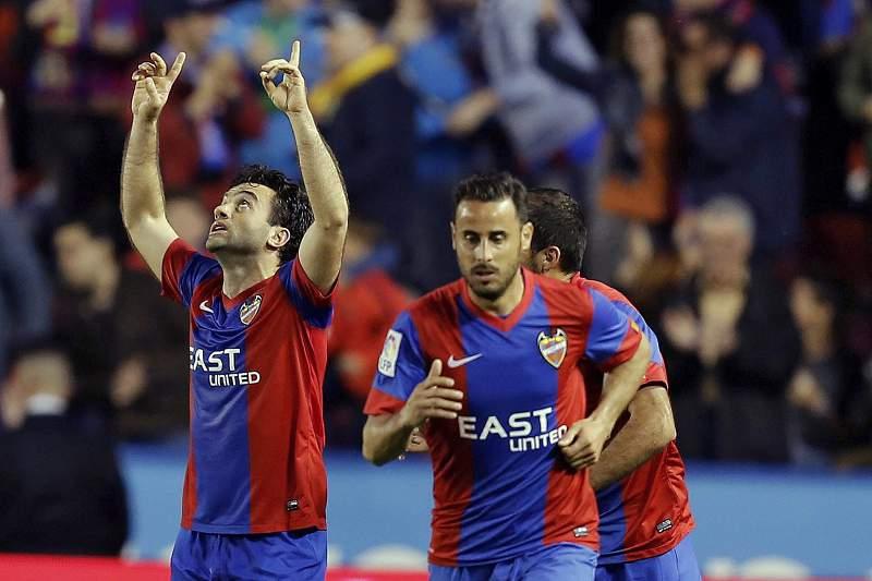Guiseppe Rossi celebra um golo ao serviço do Levante