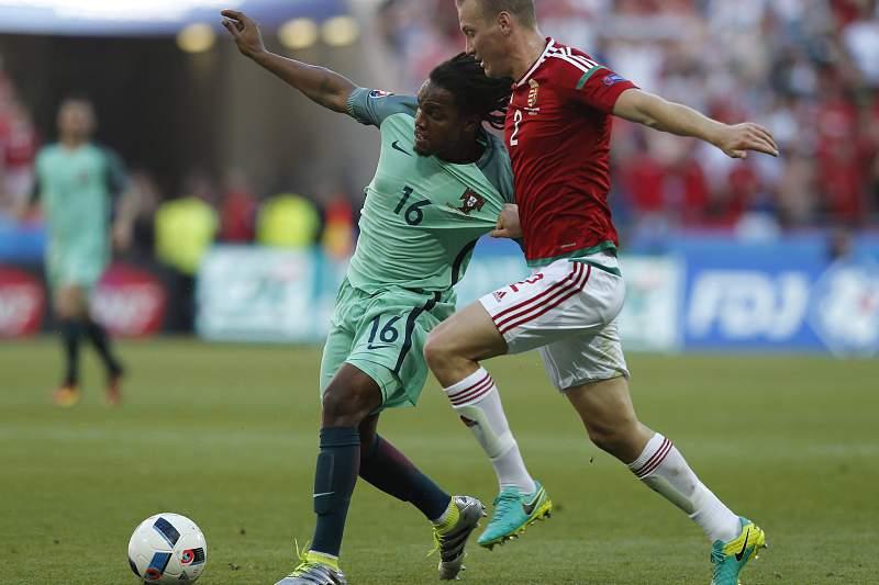 Renato Sanches em ação no jogo com a Hungria
