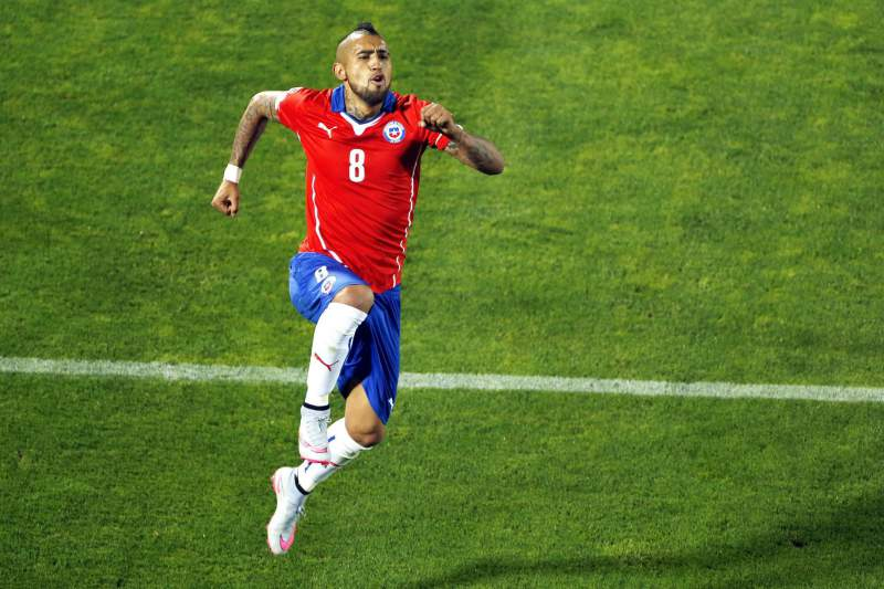 Arturo Vidal com a camisola do Chile