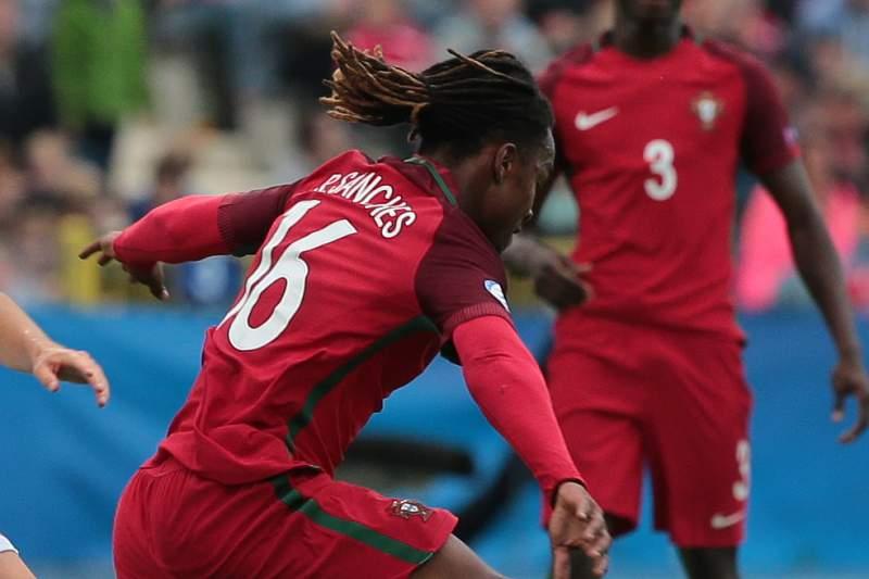 Renato Sanches em ação pela seleção nacional de Portugal sub-21