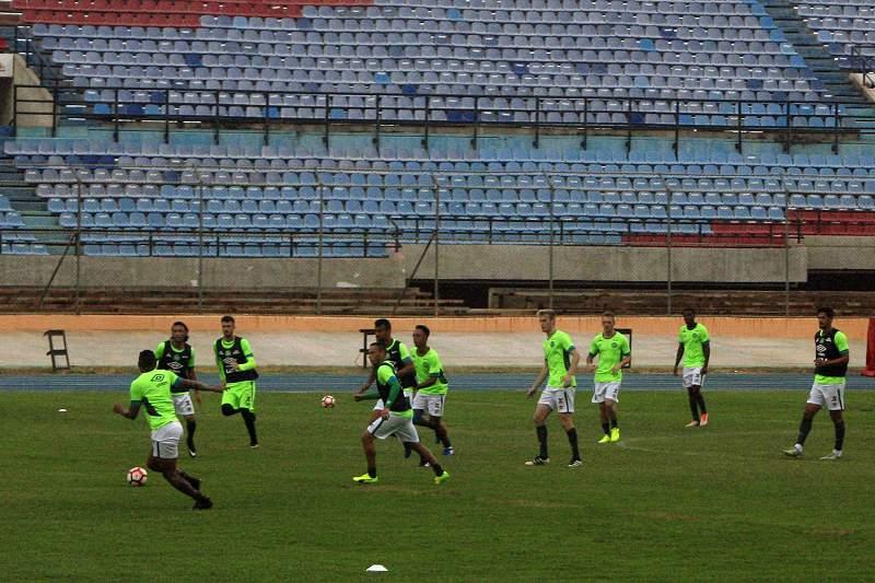Chapecoense antes do jogo na Libertadores