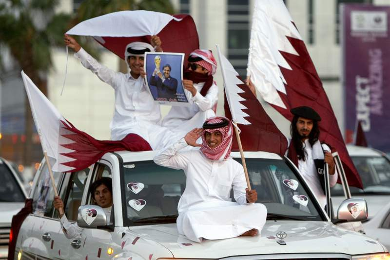 Adeptos do Qatar