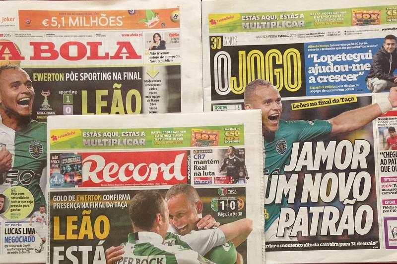 Jornais Desportivos de 9 de abril de 2015