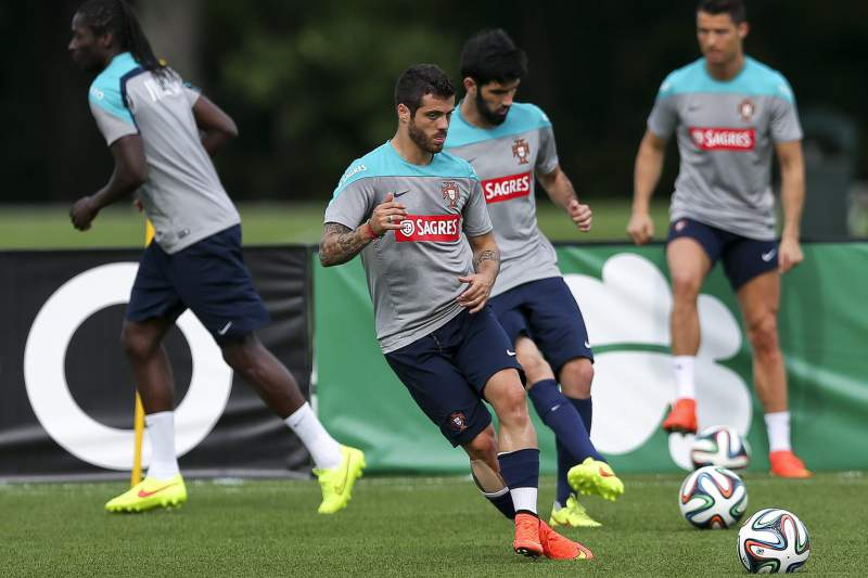 Portuguese national soccer team training in the USA