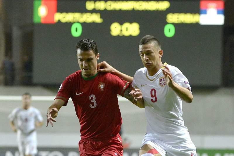 Semi-final match of soccer U19 European Championship in Felcsut