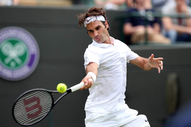 Federer venceu Paolo Lorenzi na primeira ronda de Wimbledon