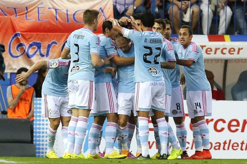 Celta de Vigo celebra golo