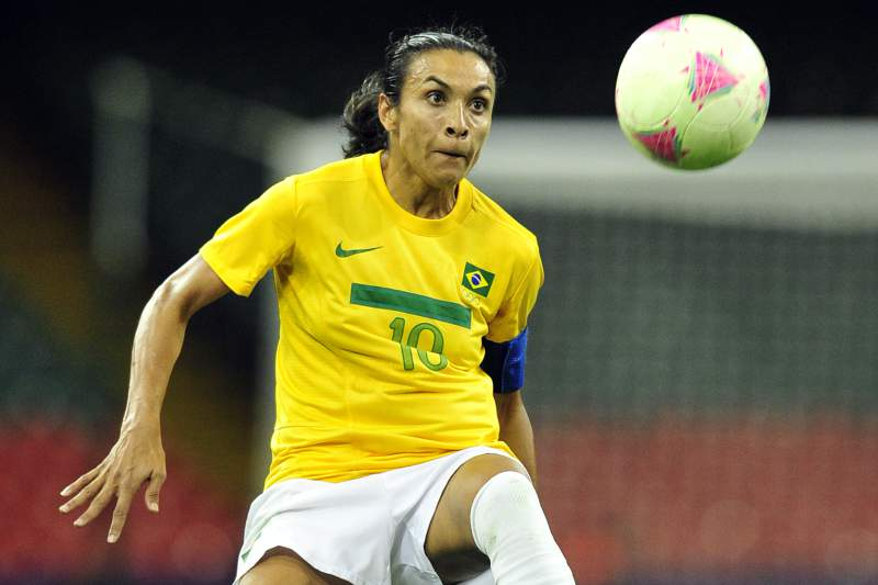 Marta na seleção feminina do Brasil