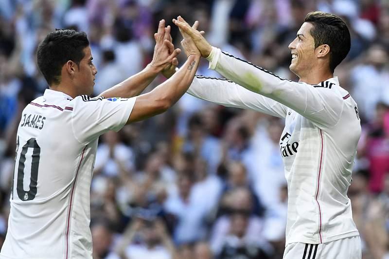 James Rodríguez e Cristiano Ronaldo