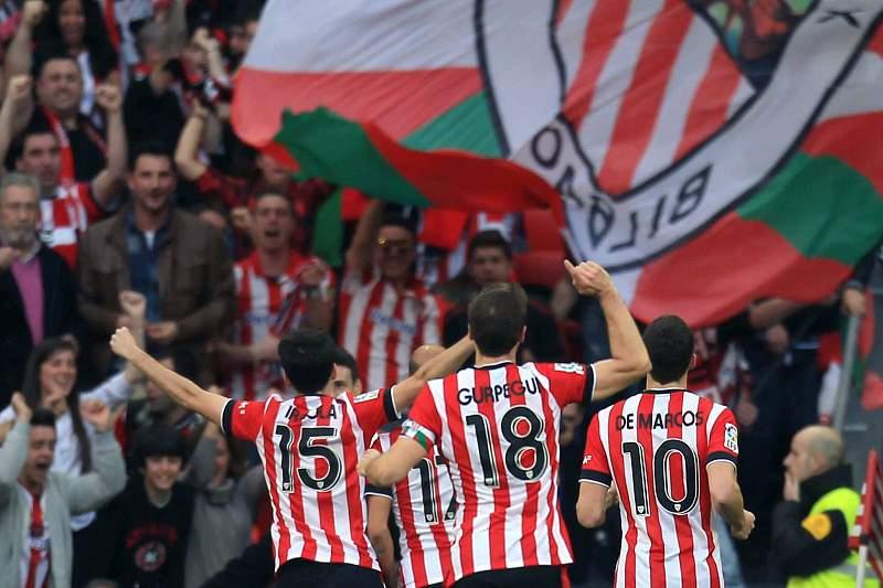 Athletic Bilbau festeja golo