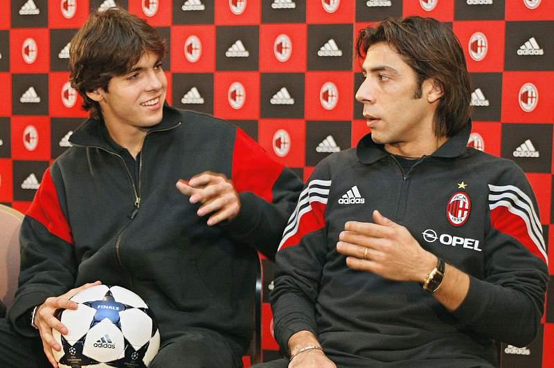 Kaká com Rui Costa