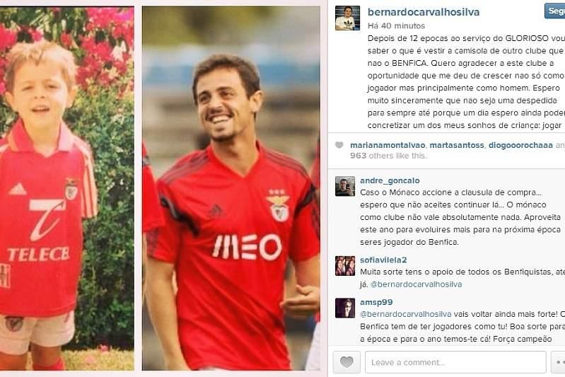 Instagram de Bernardo Silva