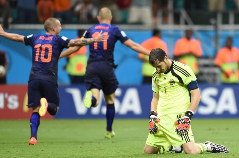 Casillas com muitas culpas na derrota da Espanha frente à Holanda