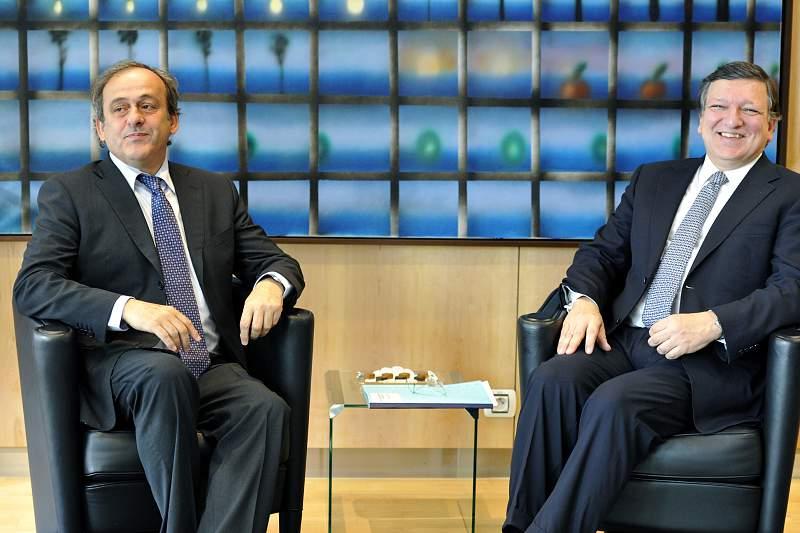 Durão Barroso e Michel Platini