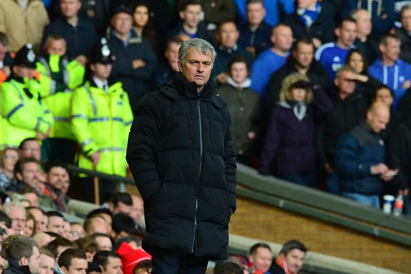 José Mourinho em Anfield Road