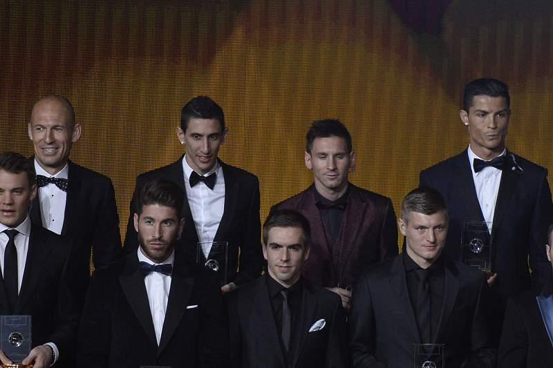 Alguns dos jogadores do melhor onze de 2014