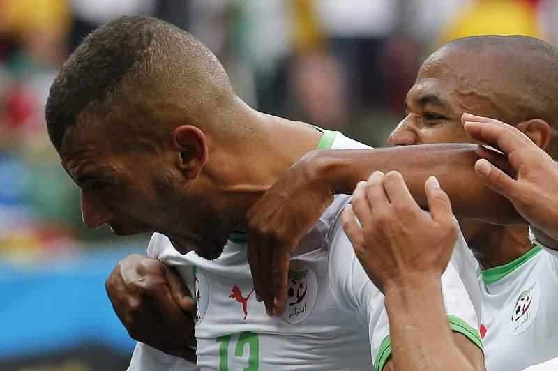 slimani faz golo da Argélia