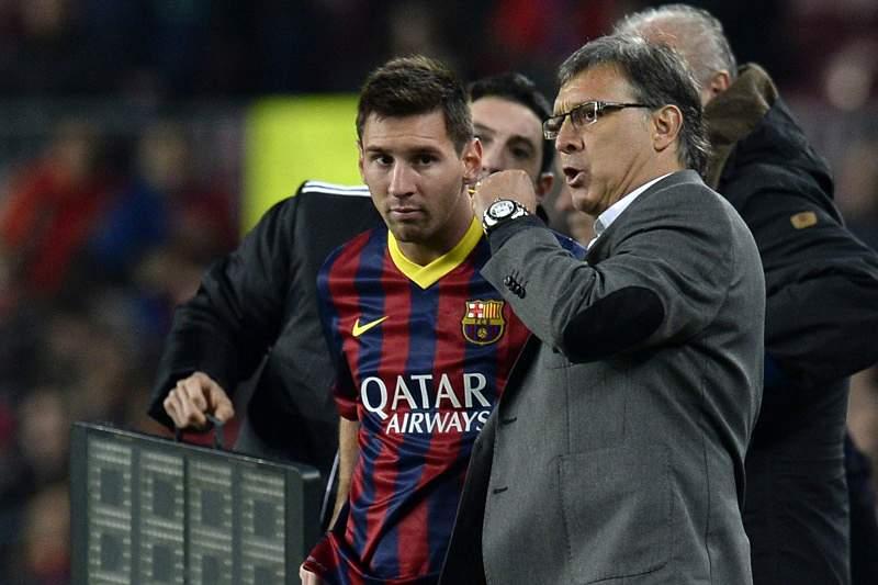 Tata Martino orientou Messi no Barcelona